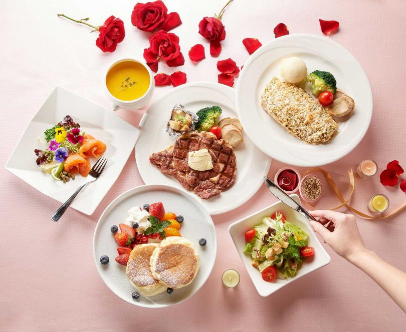 圖為「麗香苑」推出的「一起久久雙人餐」。