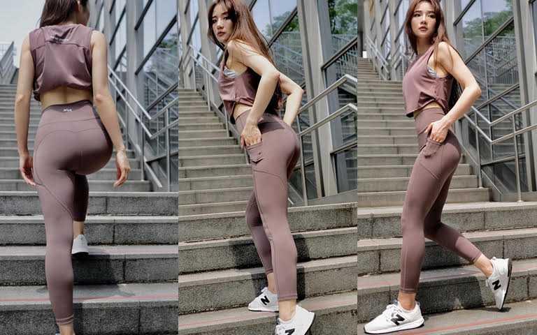 AM ME蜜桃臀口袋瑜珈褲/1,280元洗滌色牢度高達Level4,不輕易掉色,更能保持顏色的完整性。(圖/品牌提供)