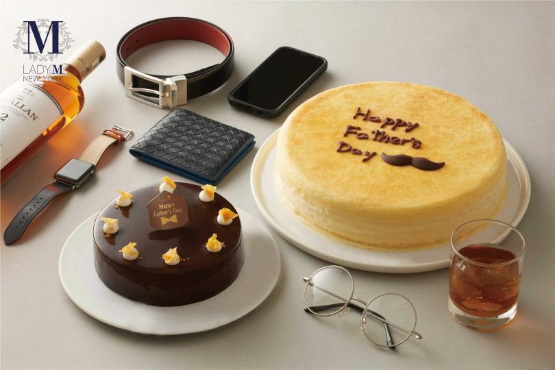 Lady M父親節蛋糕6吋威士忌巧克力慕斯、9吋經典原味千層父親節特別版,限定推出!(圖/業者提供)