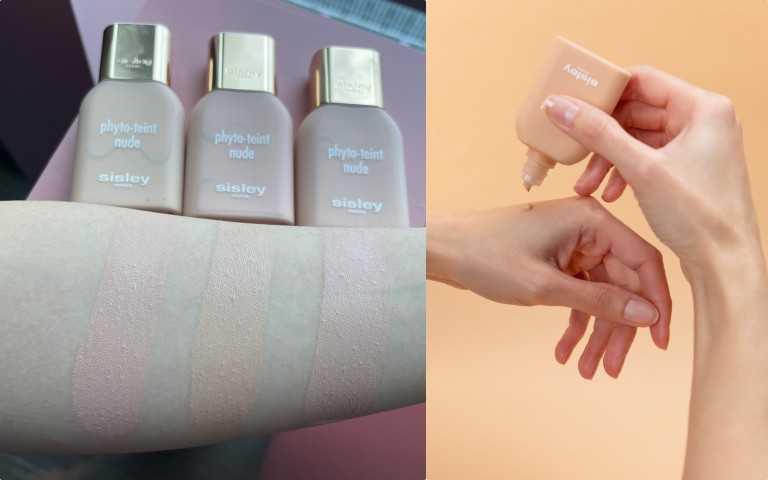 左起:Sisley 全新輕裸水感精華粉底液,讓你上妝就像在敷保濕面膜一樣,一整天都沒有乾紋問題!色號#00W,#00C,#00N。Sisley輕裸水感精華粉底液 30ml / 2,800元(圖/黃筱婷攝影、品牌提供)