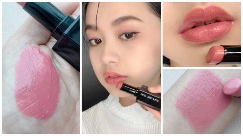 植村秀無色限聚光豐潤唇膏#BG925/1,050元  可以輕鬆創造出光療感嘟嘟唇。(圖/吳雅鈴攝影)
