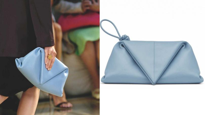 設計結合柔軟與個性的巧妙平衡。BOTTEGA VENETA  Envelope Clutch小羊皮手拿包/65,100元(圖/品牌提供)
