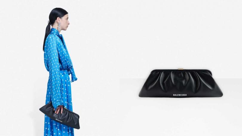 簡約復古的設計無論場合穿著都十分適合。BALENCIAGA Cloud XL Clutch with Strap/約42,000元(圖/品牌提供)