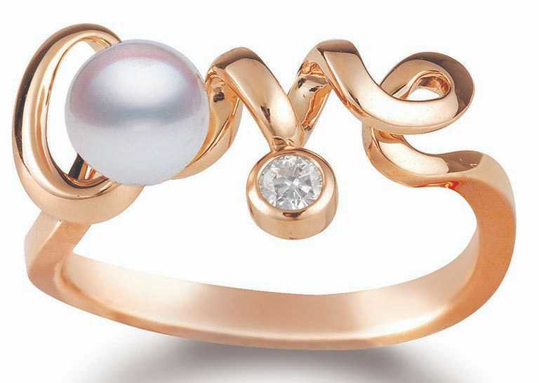 MIKIMOTO「Love Collection」18K粉紅金戒指╱35,000元。(圖╱MIKIMOTO提供)