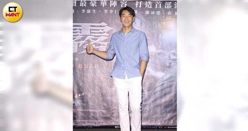 李李仁在片中也有逞兇鬥狠。(攝影/彭子桓)