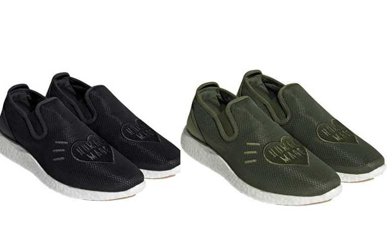 adidas Originals by Human Made SLIPON PURE HM (橄欖綠、黑)/5,690元(圖/品牌提供)