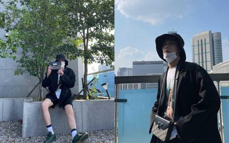 李宰旭穿著超時髦搭配Dior World Tour松花綠休閒球鞋(圖/品牌提供)