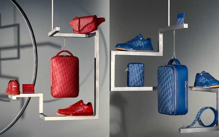 Dior World Tour膠囊系列,以色彩超濃郁的火焰紅、湛洋藍、松花綠、亮麗黃、經典黑表現在各式配件和鞋款上(圖/品牌提供)