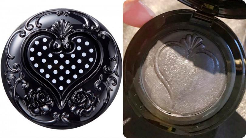看似灰黑色,其實擦起來會變成薔薇玫瑰色,是非常自然的粉嫩潤感。Anna Sui黑心皇后幻色頰彩霜/1,050元