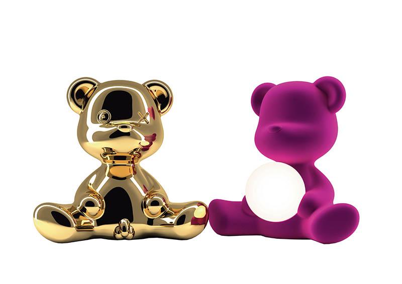「Teddy泰迪熊造型燈」除了不同顏色和表面材質,還有分男女兩種版本,售價249歐元起(約新台幣8,625元)。