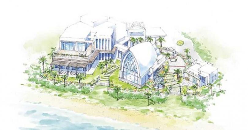 沖繩華德培的艾葵雅教堂AquagraceChapel,莊園式建築充滿異國風情。
