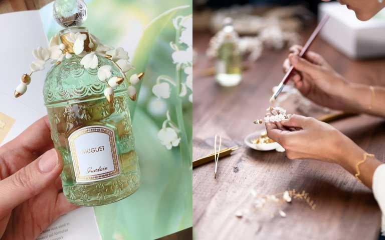 手工妝點嬌蘭鈴蘭淡香水縷金瓷卉蜂印瓶(圖/黃筱婷攝影、品牌提供)