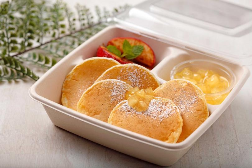 「焦糖肉桂蘋果鬆餅」可享買三送一。(240元,圖/杏桃鬆餅屋提供)