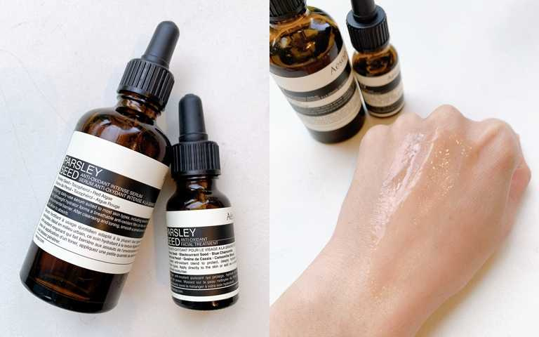 如果是乾性肌的人,很推薦將香芹籽抗氧化高效精華搭配香芹籽抗氧化精露一起調和使用。(圖/吳雅鈴攝影)