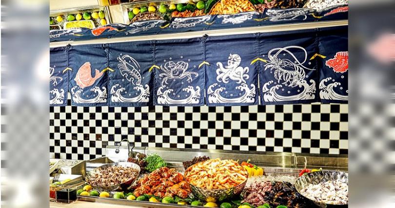Checkers自助餐廳在十月晚餐期間推出以「漁市場料理」為概念海鮮主題料理