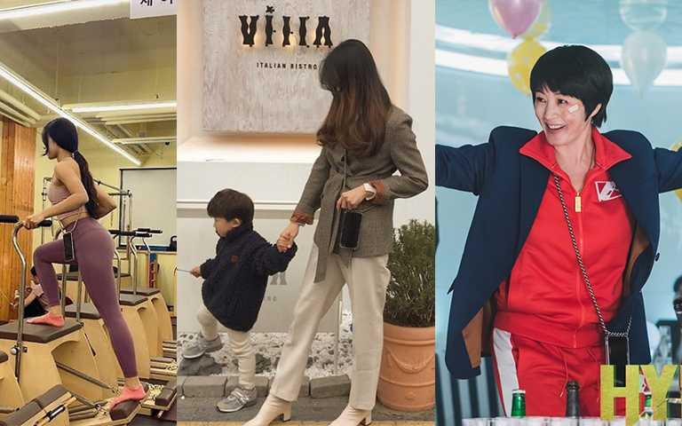 現代快步調社會,運動或顧小孩同時還要拍美照,這時揹帶形式的手機殼就很方便。(圖/arnoseoul IG,tvN)