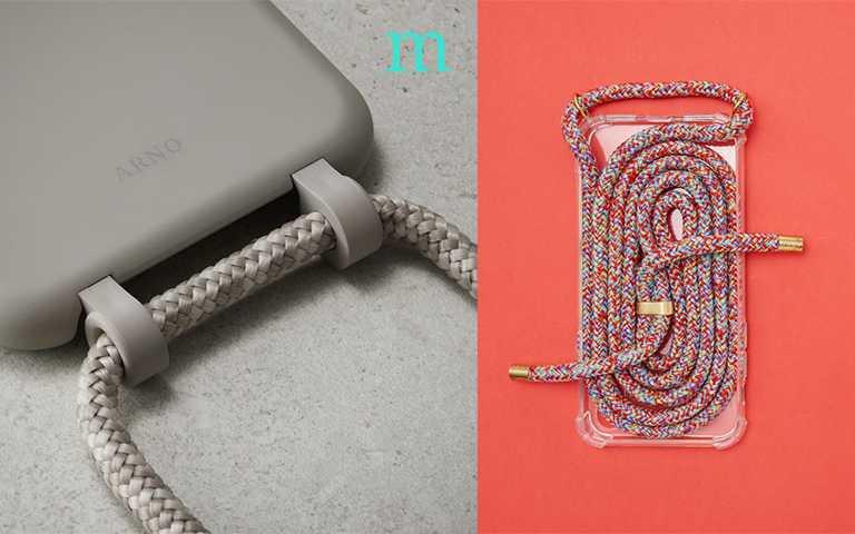 ARON是韓國品牌,以顏色的多變化跟金屬扣環為特色,一個手機殼售價約45,000韓幣。(圖/arnoseoul IG)xouxou為歐洲品牌,款式較多也比較細緻,一個手機殼25到63歐元不等。(圖/xouxou IG)