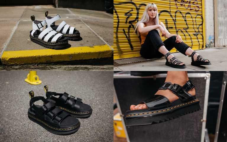 Dr. Martens讓春夏穿搭更為極致有型,特別推出多款涼鞋單品。(圖/Dr. Martens)
