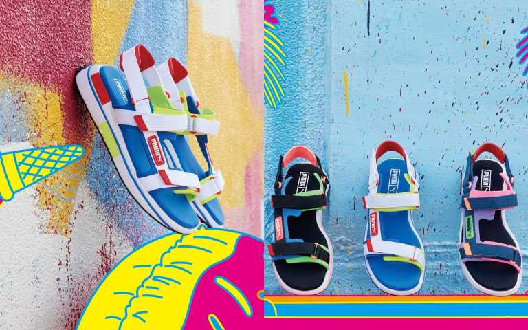 PUMA Future Rider 繽紛輕厚底涼鞋/2,480元(圖/品牌提供)