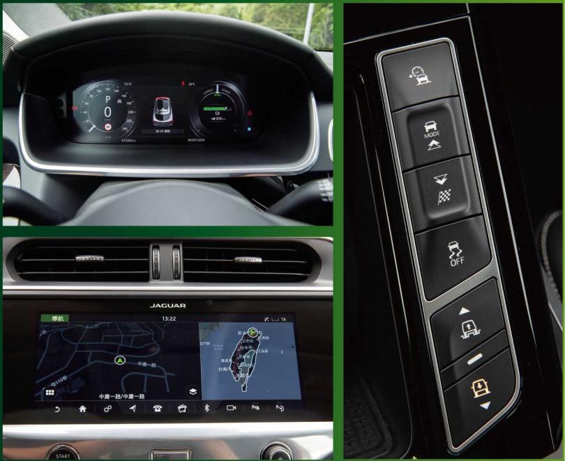 在沒有連接手機的情況下,中控車機的功能就相當齊全,可透過導航快速找到充電站。(圖/黃耀徵攝)