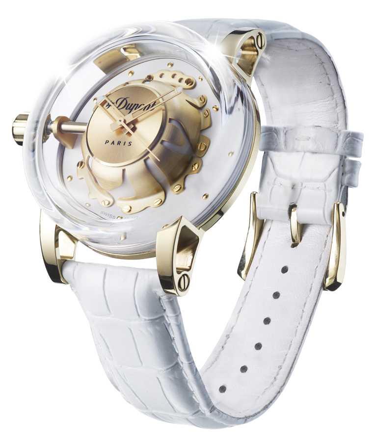 S.T. Dupont「HYPERDOME」系列腕錶,「Be Elegant優雅」錶款╱19,800元。(圖╱S.T. Dupont提供)