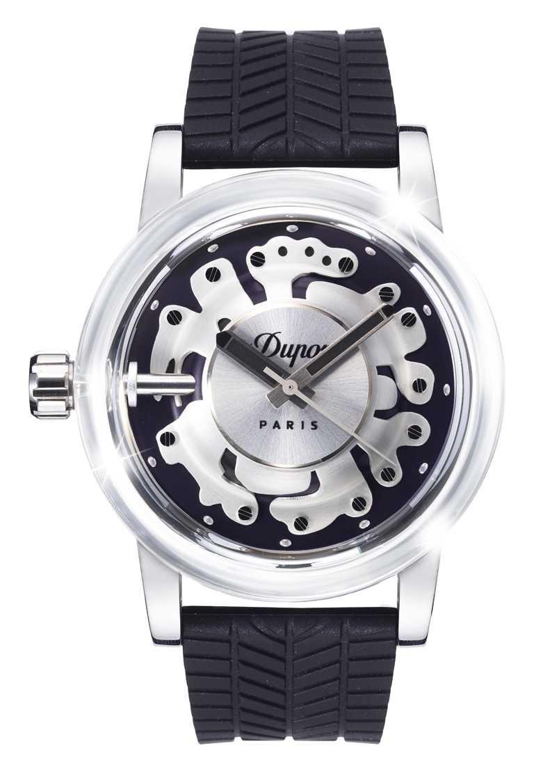 S.T. Dupont「HYPERDOME」系列腕錶,「Be Daring無畏」錶款╱19,800元。(圖╱S.T. Dupont提供)