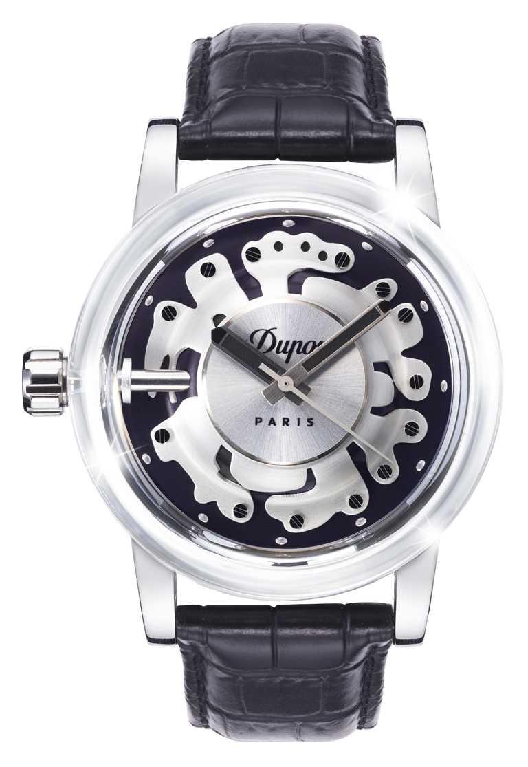 S.T. Dupont「HYPERDOME」系列腕錶,「Be Bold大膽」錶款╱19,800元。(圖╱S.T. Dupont提供)