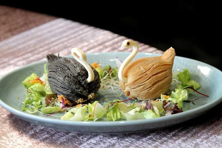 卡哇伊的「天鵝酥」令人捨不得吃。
