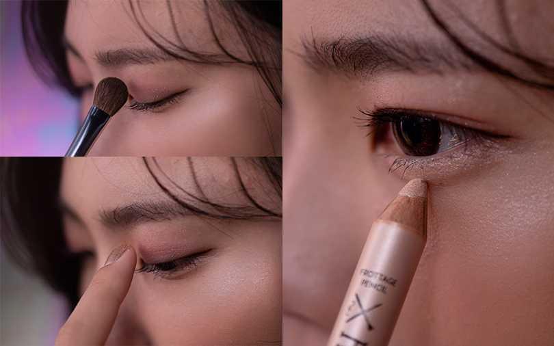利用工具跟手指,簡單五步驟就能打造自然閃眼妝。(圖/愛女生12月號)