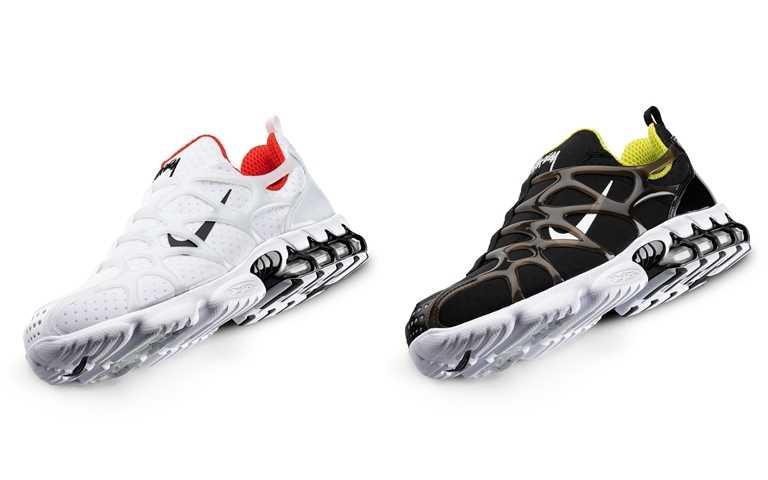 Stüssy x Nike Air Zoom Kukini NT5,400(兩色)、Stüssy x Nike Benassi NT1,300(三色)(圖/Stüssy Taiwan)