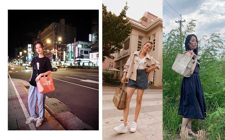 The Tote Bag耐用又好搭配,萬元以下的價錢讓人輕鬆擁有輕奢精品包,還可以選購長毛字母布勳章客製化。(圖/summer1991720 IG,lyan616 IG,patty11266924 IG)