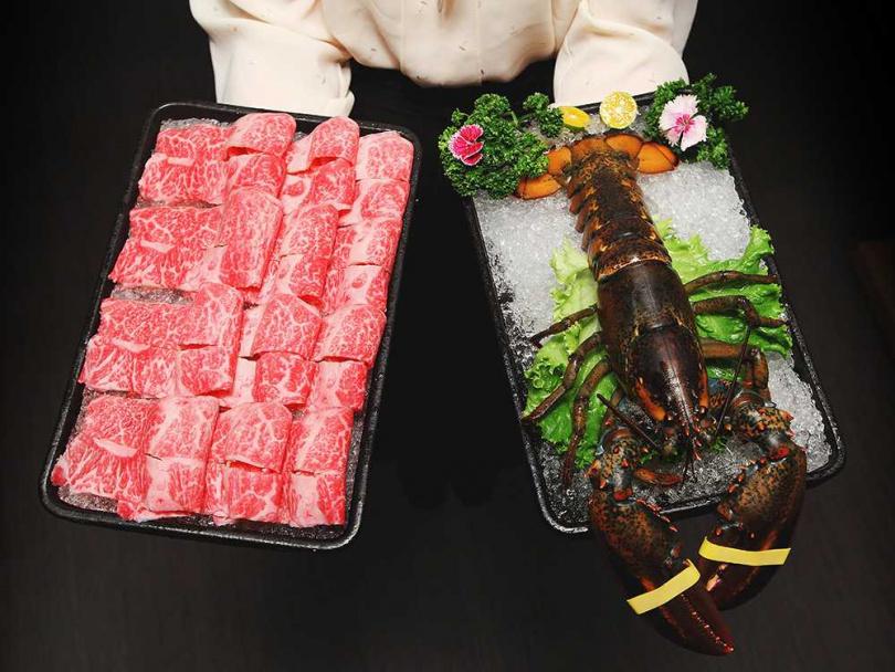 消費滿2999元,即免費贈送波士頭龍蝦一隻或SRF極黑和牛一盤。(圖/鍋&Bar提供)