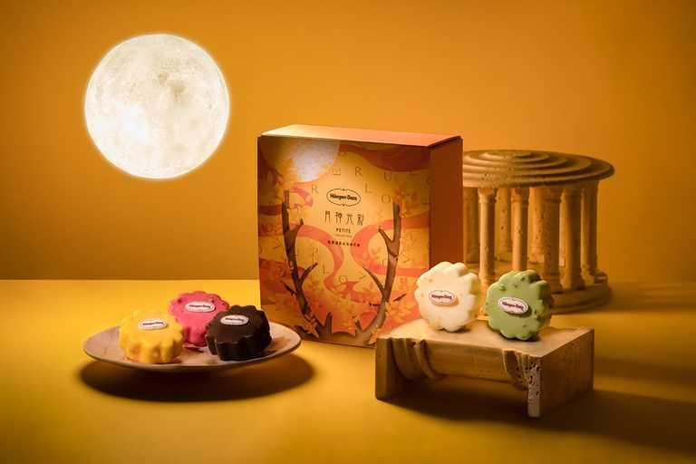 「月神光彩」禮盒,呼應月神黛安娜作為設計,為中秋增添光彩與水果香甜氣息。