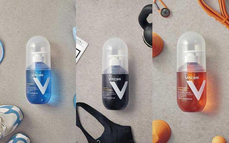 Farcent Vitαmi機能補給植感沐浴露-清爽涼感/淨化抗菌/舒緩水潤各550g/299元依照不同膚況需求而有薄荷涼感型、毛孔淨化型、舒緩滋潤型的3種款式可選擇。(圖/品牌提供)