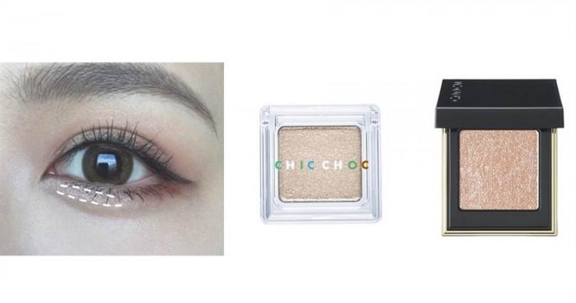 細緻質感的珠光眼影選這些!CHIC CHOC輕質透光眼影 #EX-02 2g/580元、SUQQU晶采立體眼影 #12/1,400元(圖/翻攝網路、品牌提供)