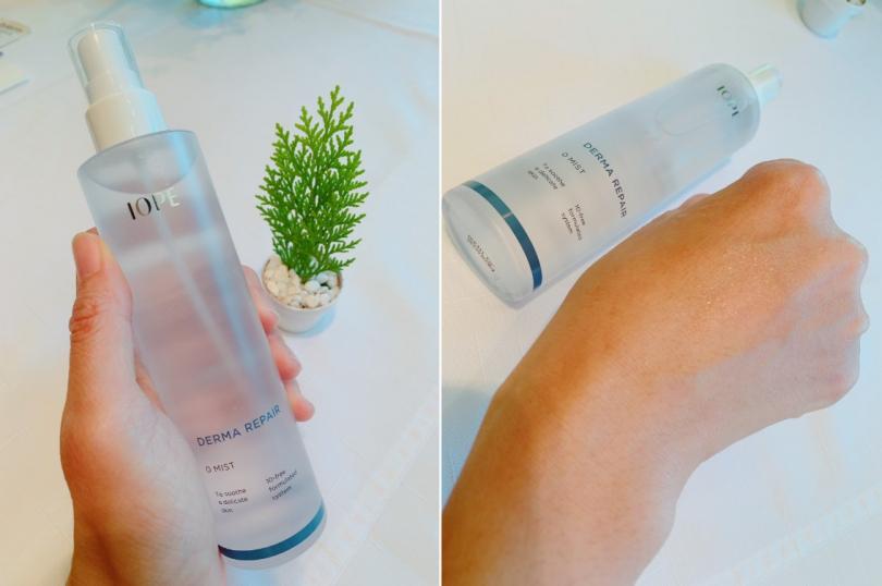 IOPE全能親膚敏感呵護保濕噴霧 150ml/880元 除了臉部之外,其實全身覺得敏感不適的地方都能噴。(圖/吳雅鈴攝)