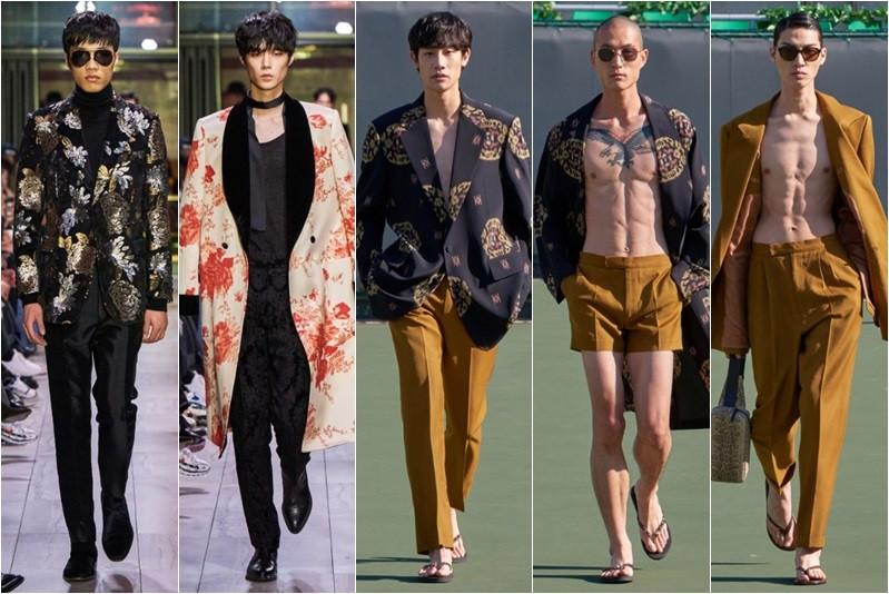 韓國設計師kimseoryong 2019 SS、2019 AW系列帥氣十足的單品中其實隱藏著許多傳統韓服的花色與元素,玩味時尚相當有趣。(圖/kimseoryong提供)