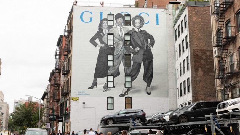 曼哈頓舒活區拉法葉街的GUCCI藝術牆。(圖/品牌提供)