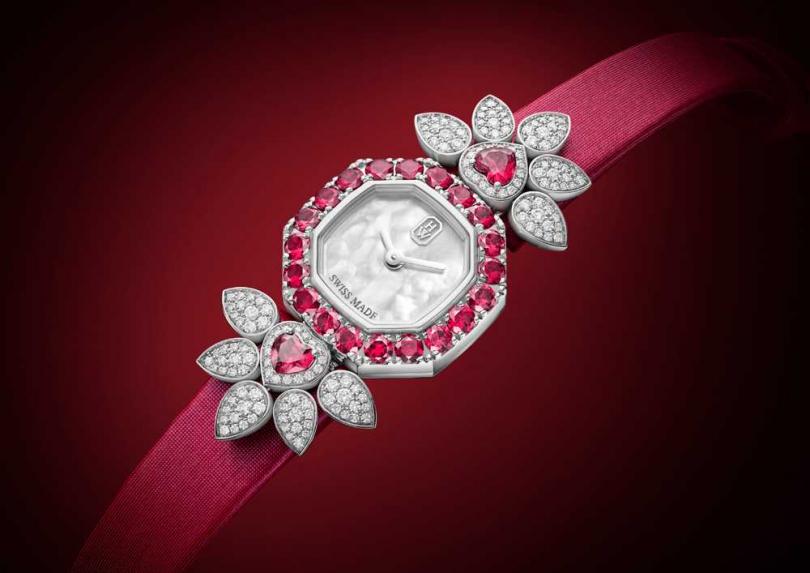 Harry Winston「Precious Valentine's Day」情人節限量款高級珠寶腕錶,限量14只╱價格店洽(圖片提供╱Harry Winston)