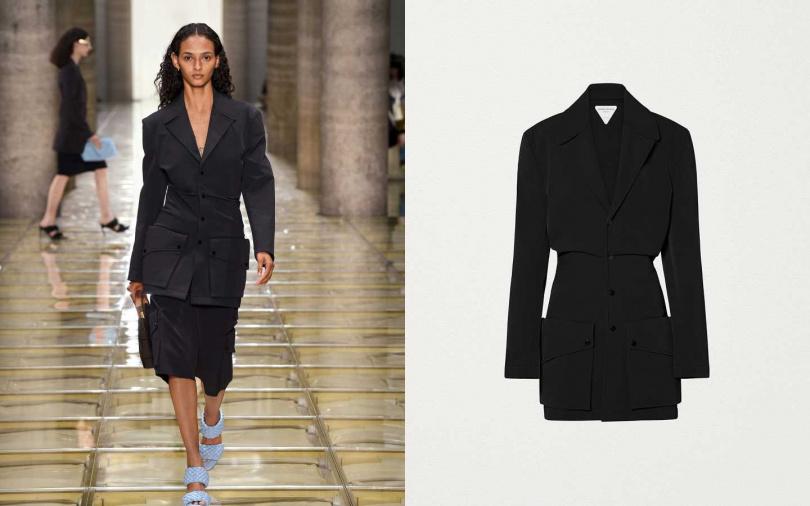 俐落充滿都會感的設計線條讓大型口袋不顯突兀。BOTTEGA VENETA Jacket 外套/約68,300元(圖/品牌提供)