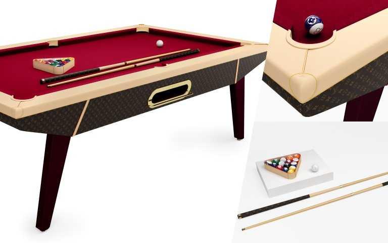 LOUIS VUITTON撞球檯,經典Monogram花紋款,約356萬元。(圖/品牌提供)