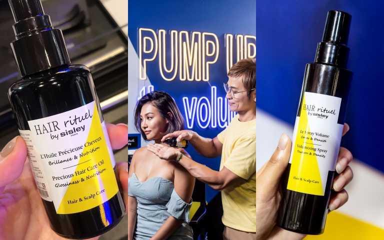 (左)賦活重生修護精華油100ml/3,000元;(右)Hair Rituel豐盈澎澎髮噴霧 150ml/2,700元(圖/黃筱婷攝影、品牌提供)