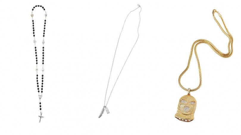十字架項鍊/價格未定(教會贈送);項鍊/各約1,000元(圖/戴世平攝)