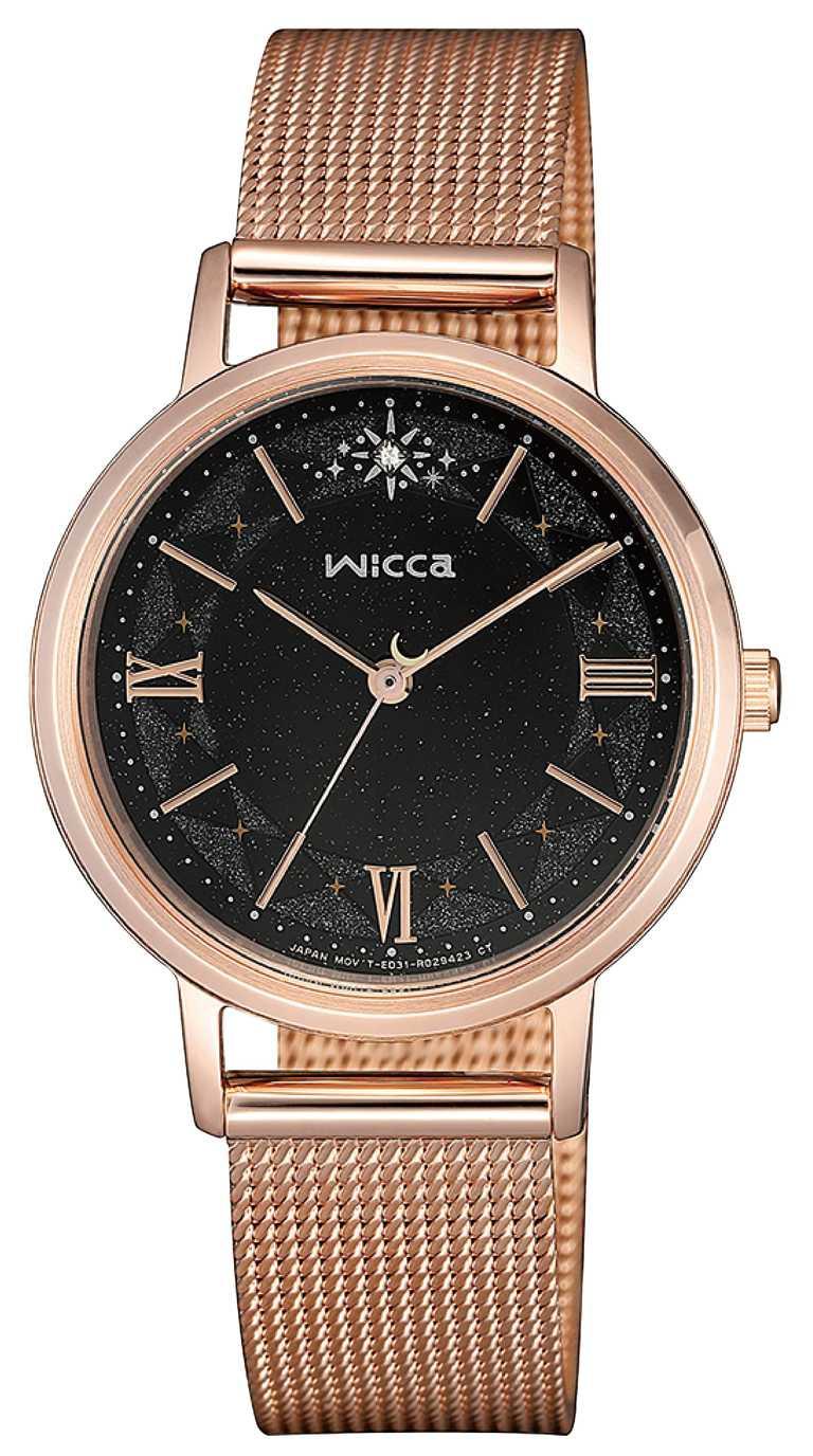 wicca「太陽能腕錶」黑夜星空面盤╱7,500元。(圖╱wicca提供)
