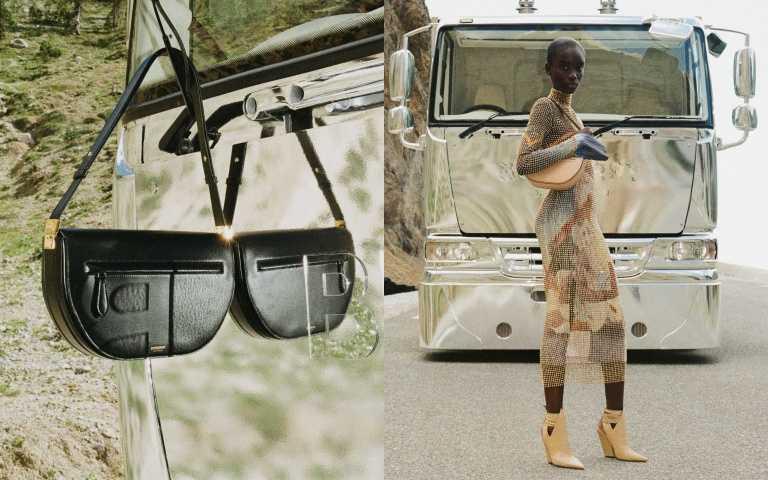 黑色小型皮革Olympia包/65,000元、奶茶色小型皮革Olympia包/65,000元(圖/品牌提供)