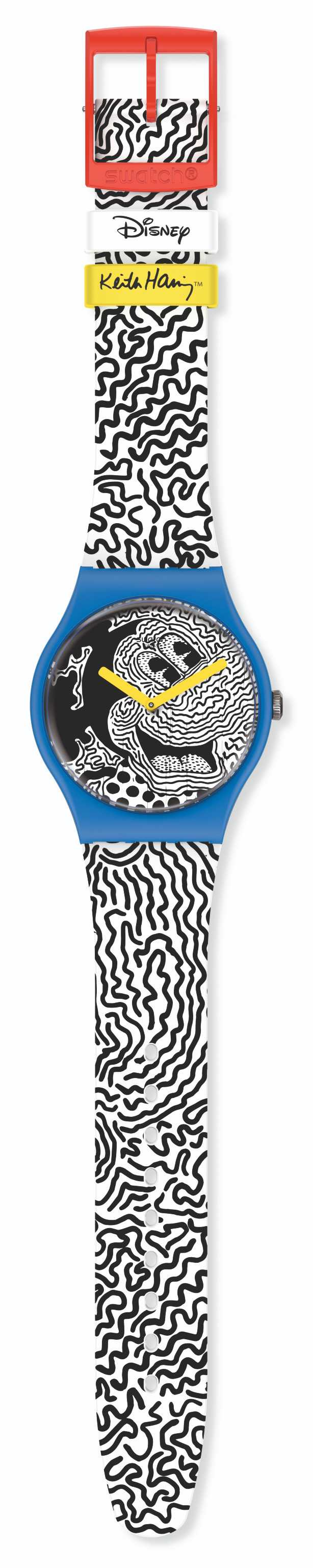 swatch 「電流米奇」Disney Mickey Mouse X Keith Haring 聯名腕錶 NT$6,000