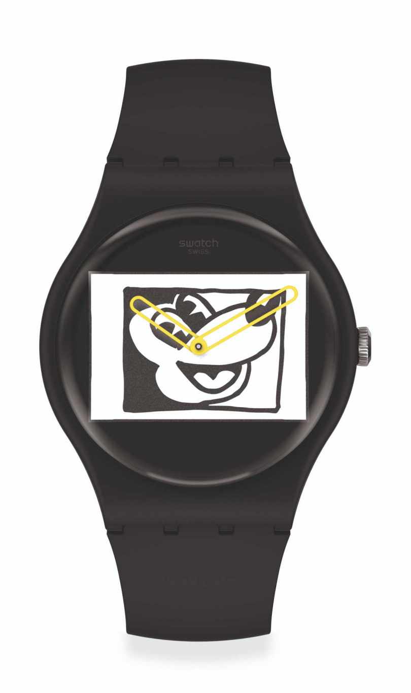 swatch「黑白米奇」Disney Mickey Mouse X Keith Haring 聯名腕錶 NT$3,950