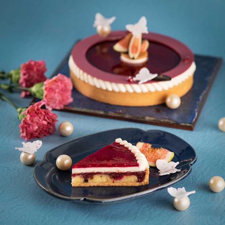 香格里拉台北遠東 母親節蛋糕 -  莓好花園 覆盆莓無花果塔。