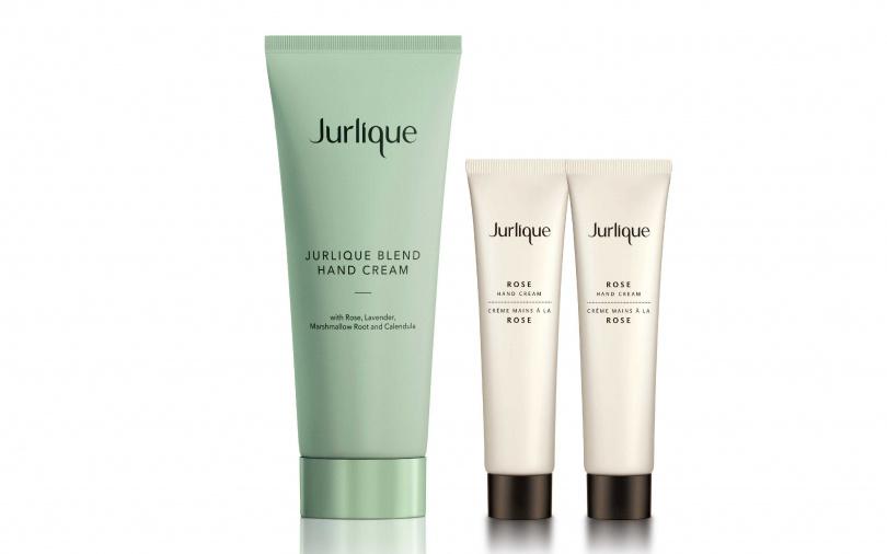 Jurlique限量手霜超值組/1,200元  內含2021玫瑰護手霜‧綠意花漾限量版+玫瑰護手霜15ml*2。限量300組。(圖/品牌提供)