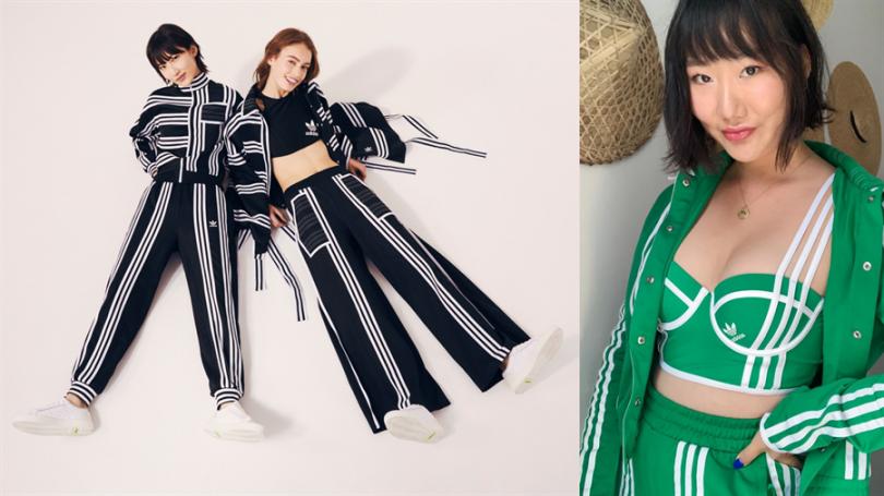紐約新銳韓裔設計師Ji Won Choi(右)與adidas Originals攜手,推出今夏最潮運動套裝!(圖片:品牌提供、IG)